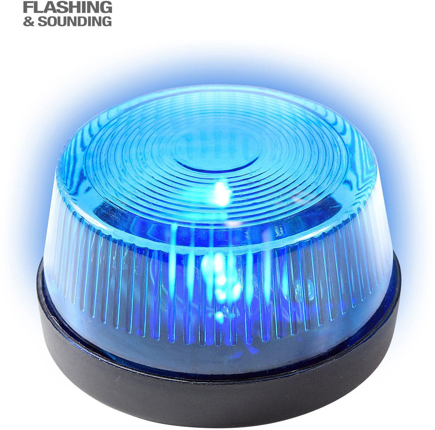 Blauw sirenelicht met geluid