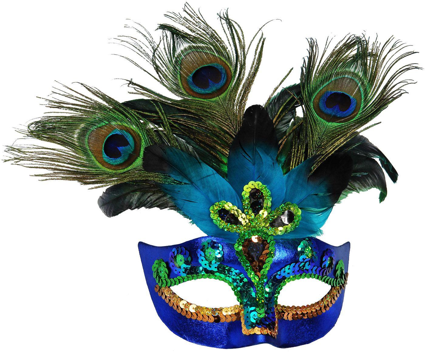 Blauw vrouwen oogmasker vrouwen