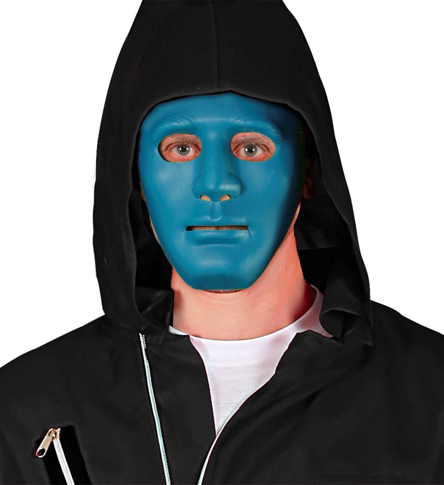 Blauwe anonymous masker
