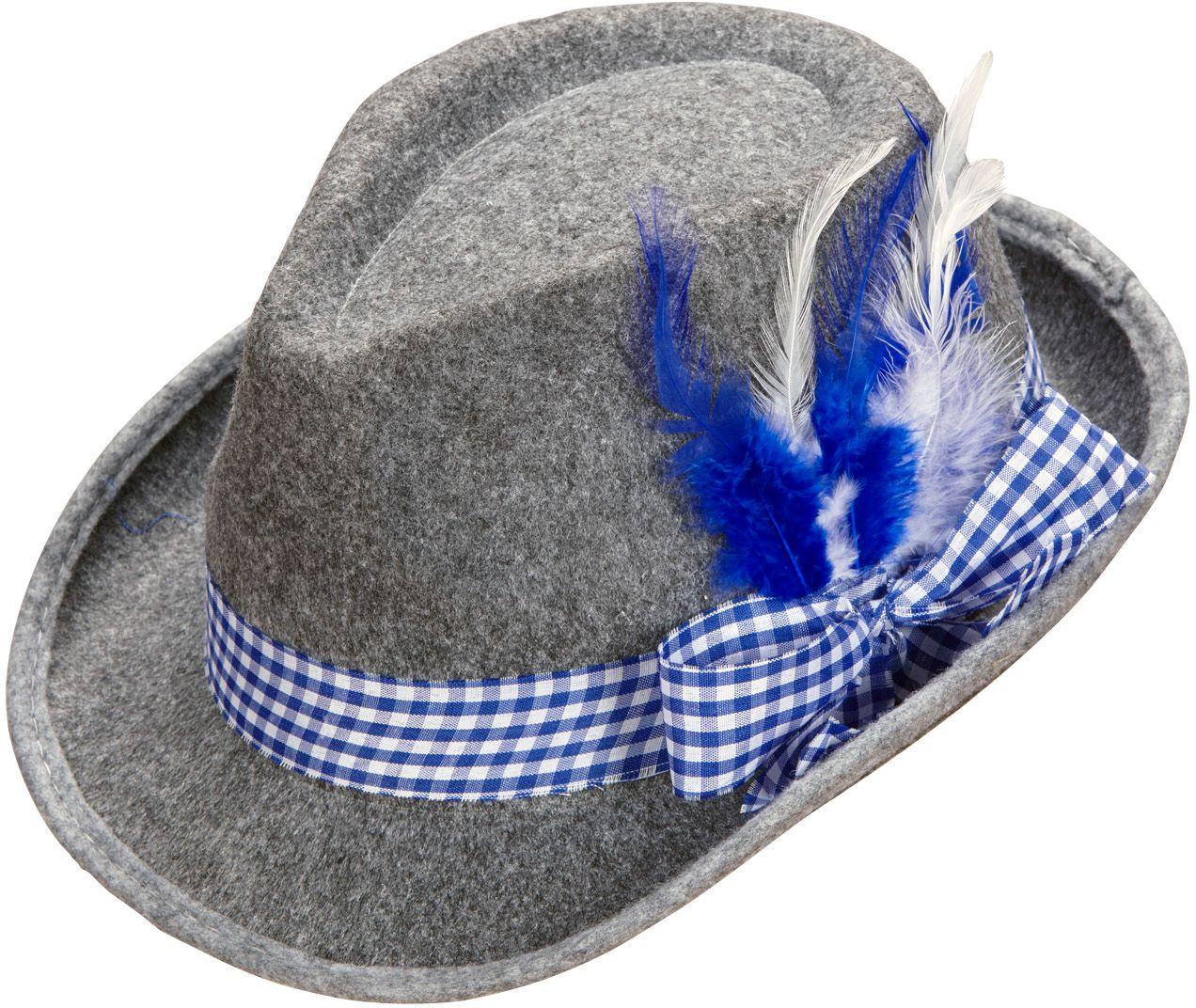 Blauwe beierse hoed