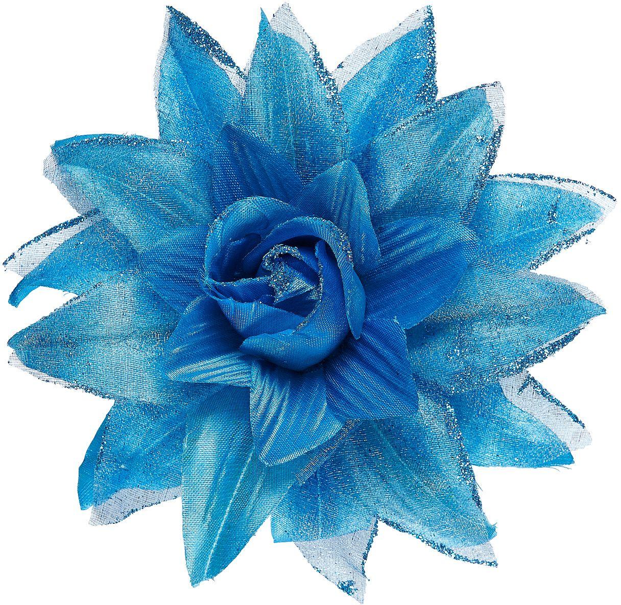 Blauwe bloem haarspeld