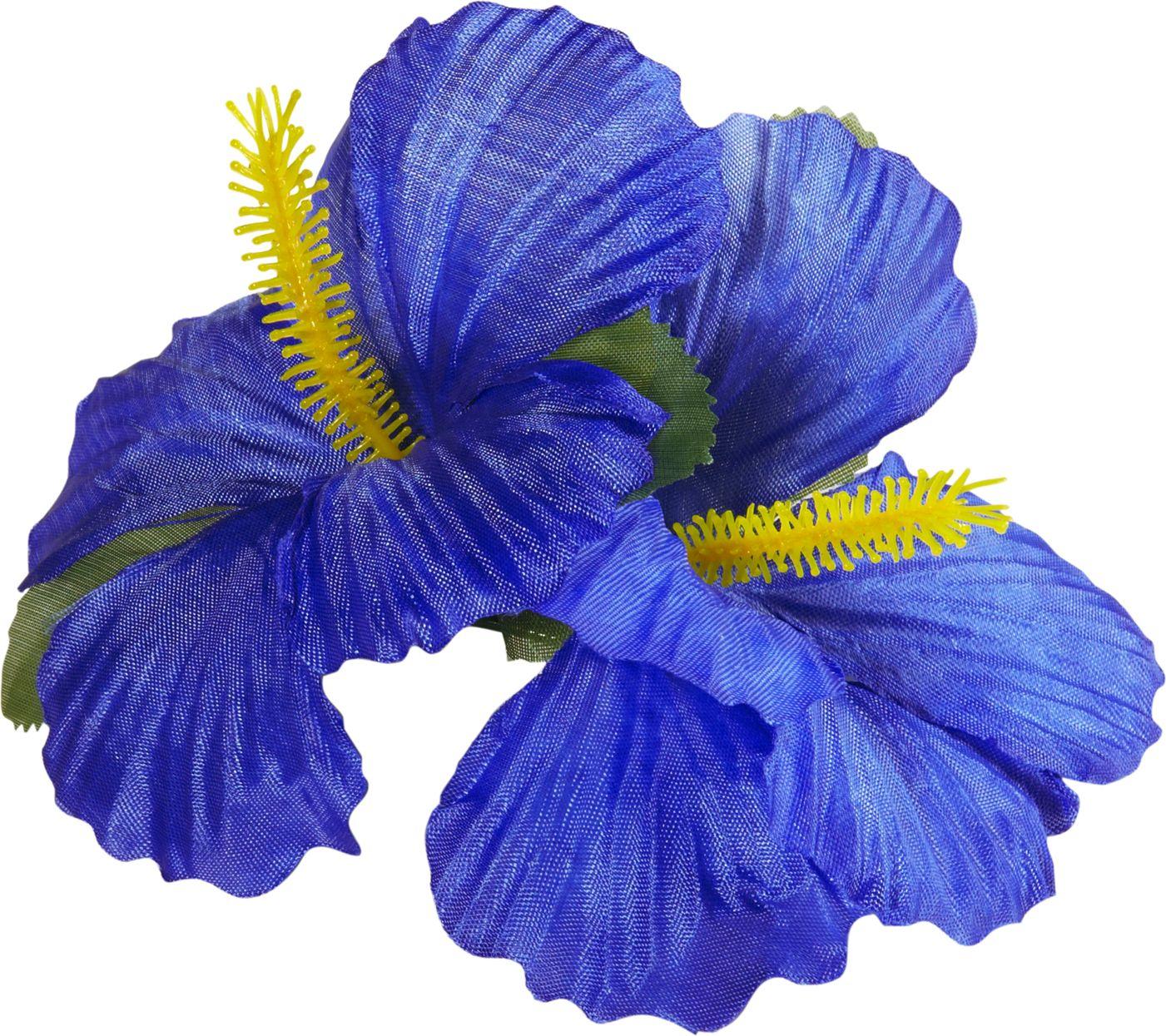 Blauwe bloemen haarspeld