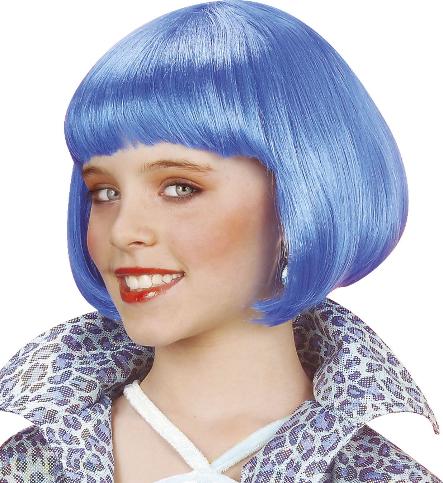 Blauwe Jenny pruik kind