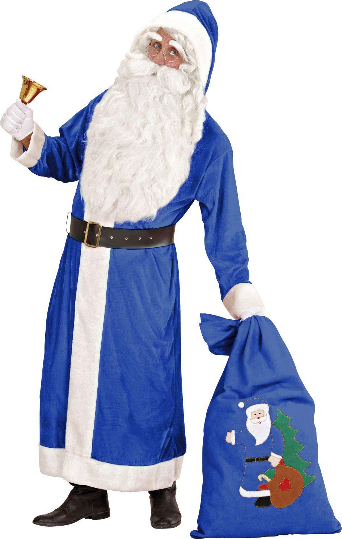 Blauwe kerstman jas