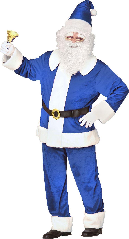 Blauwe kerstman kostuum