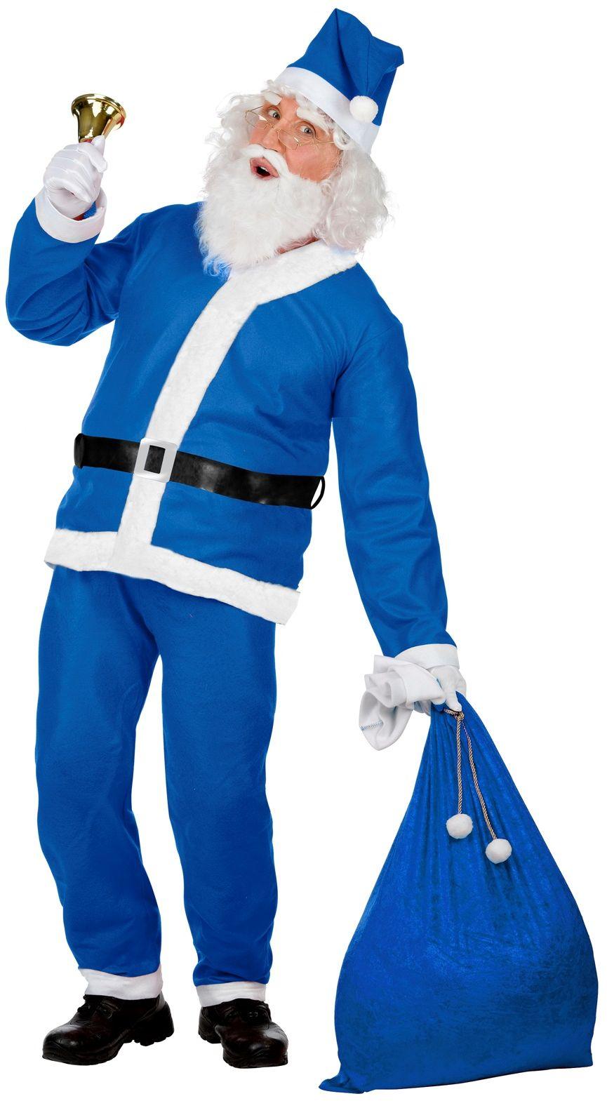 Blauwe kerstman outfit