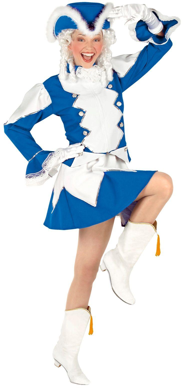Blauwe majorette kleding