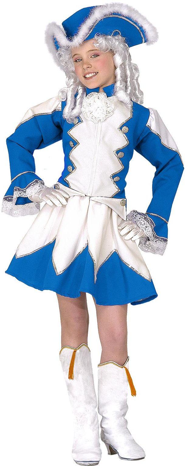 Blauwe majorette kleding kind