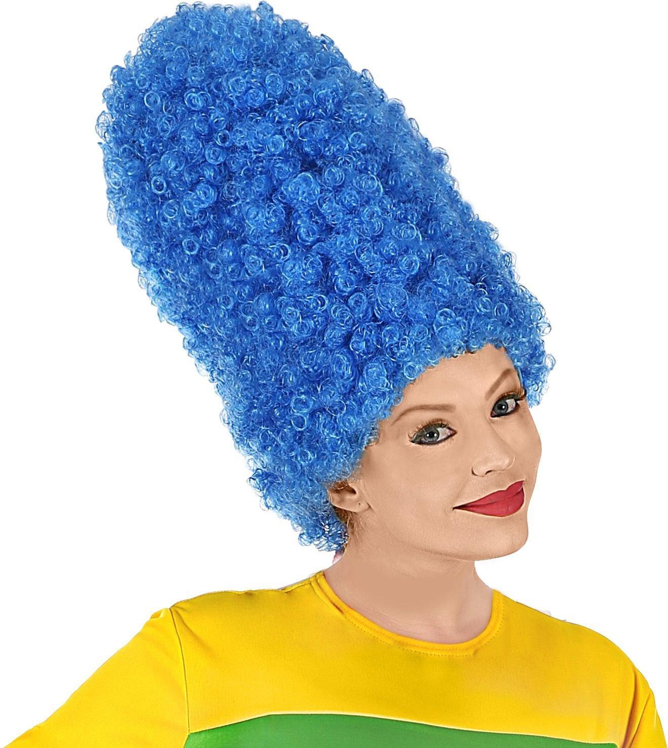 Blauwe Marge Simpson pruik