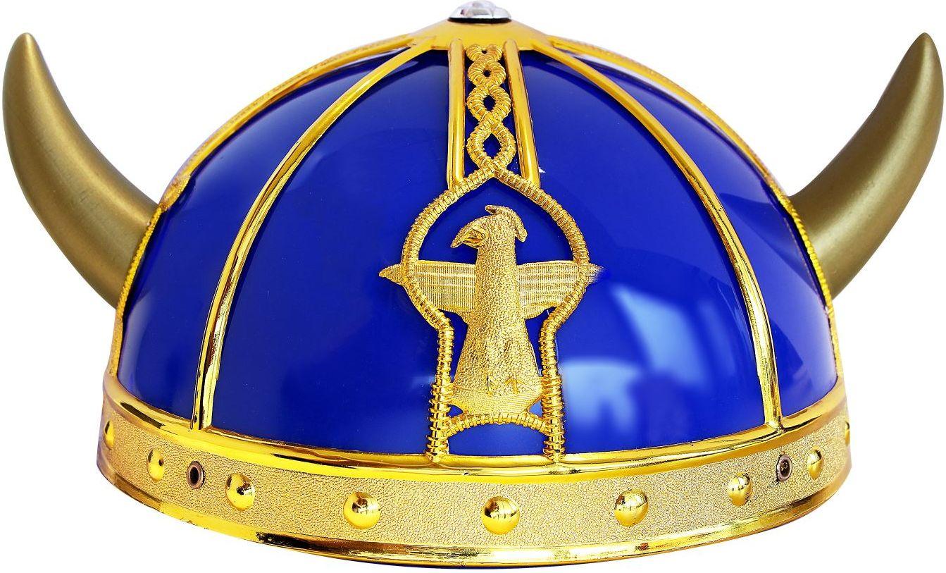 Blauwe vikingshelm