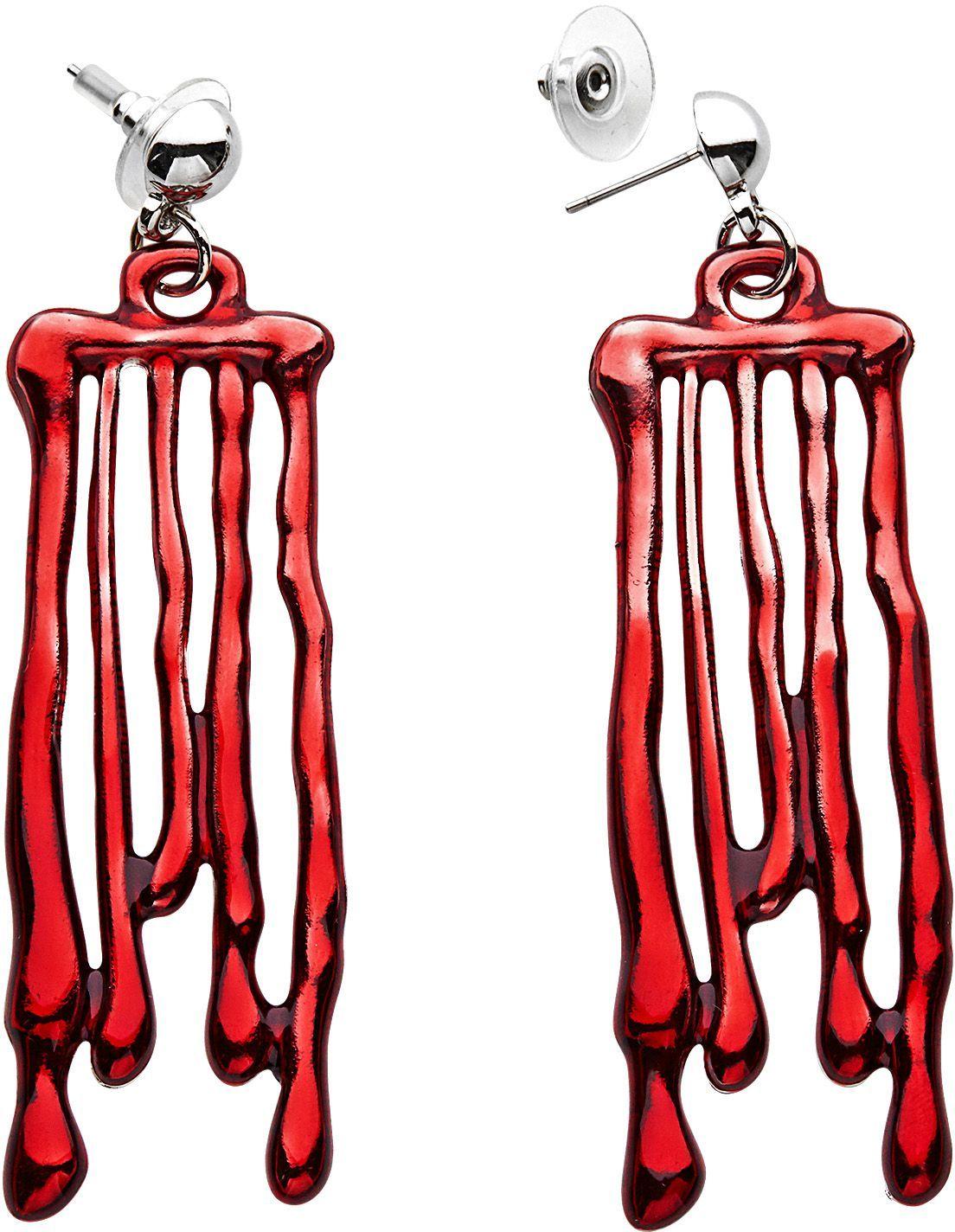 Bloed oorbellen druppelend vrouwen
