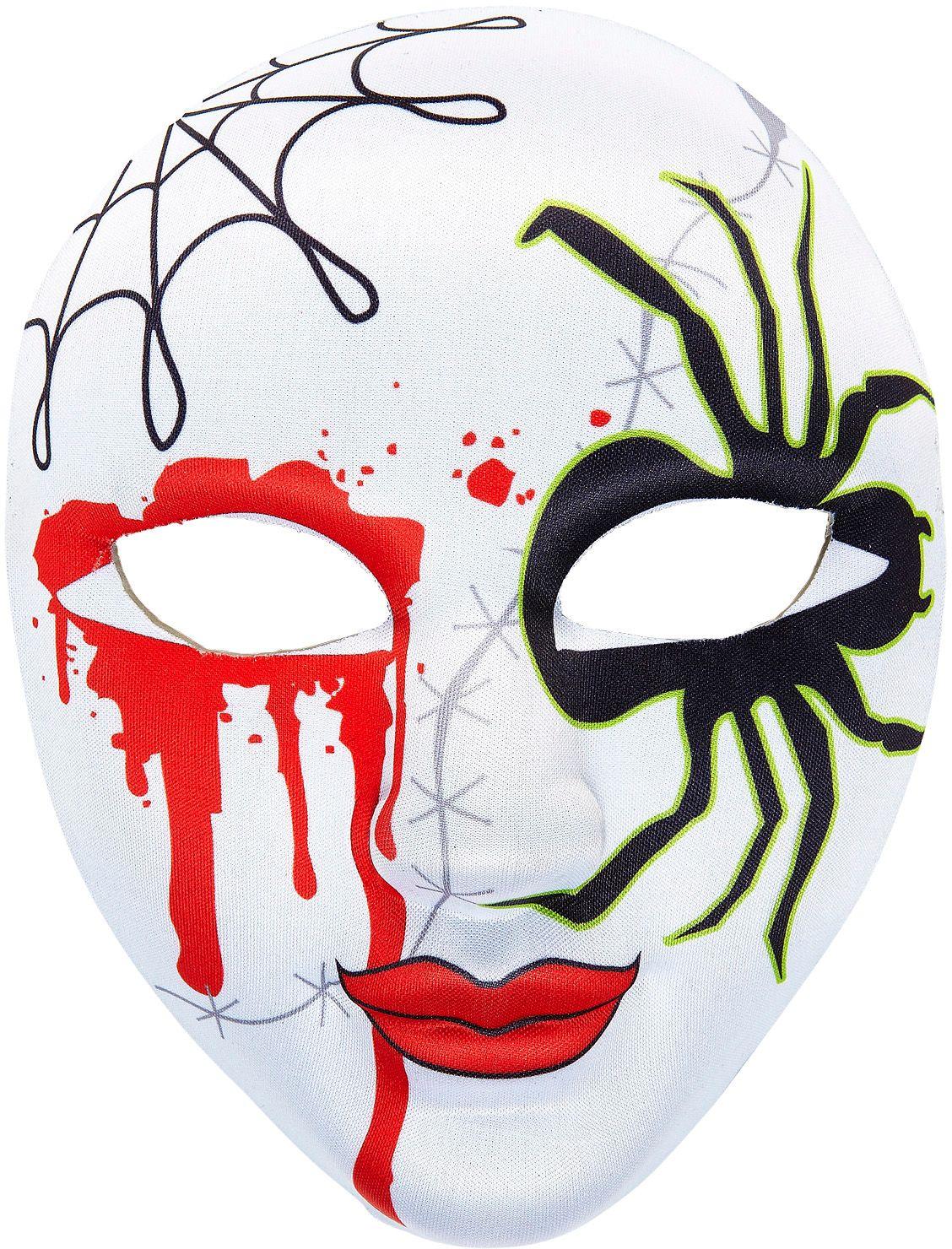 Bloederig gezichtsmasker spin