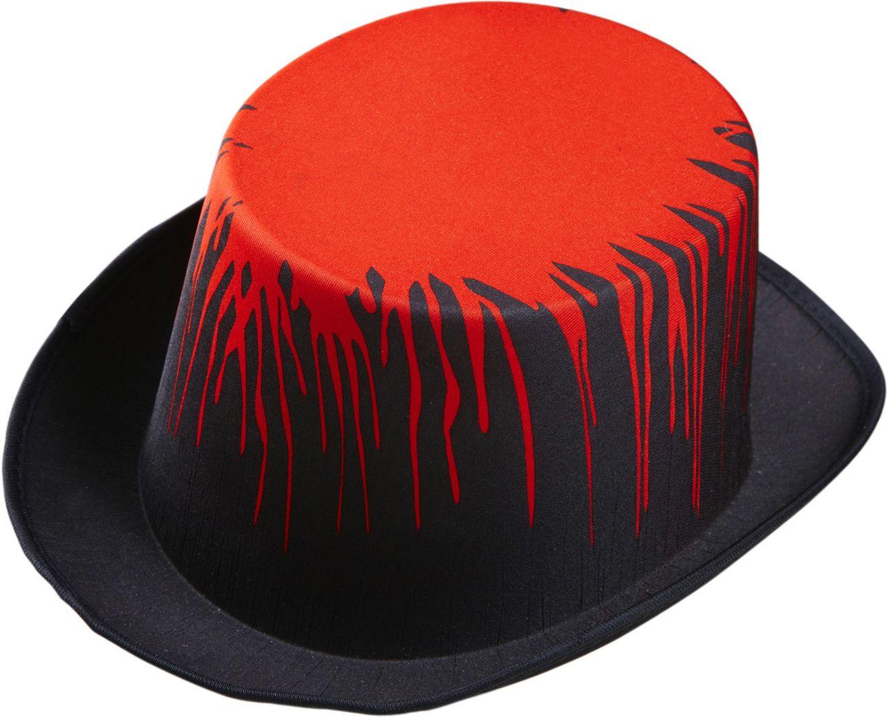 Bloederige hoge hoed