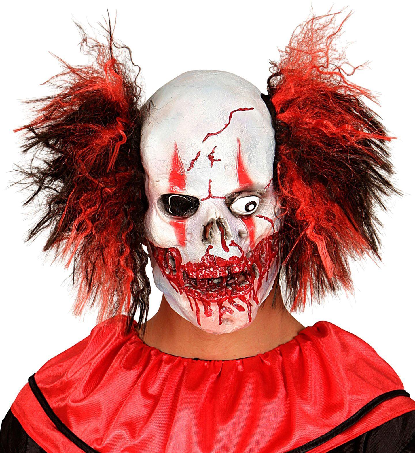 Bloederige horror clown masker