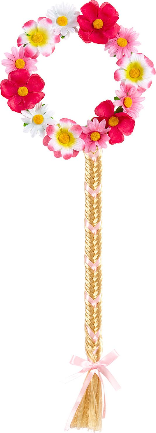 Bloemetjes hoofdband met staartje