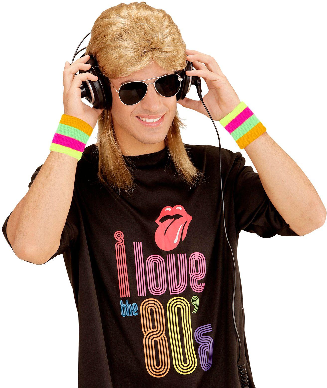 Blonde 80's pruik