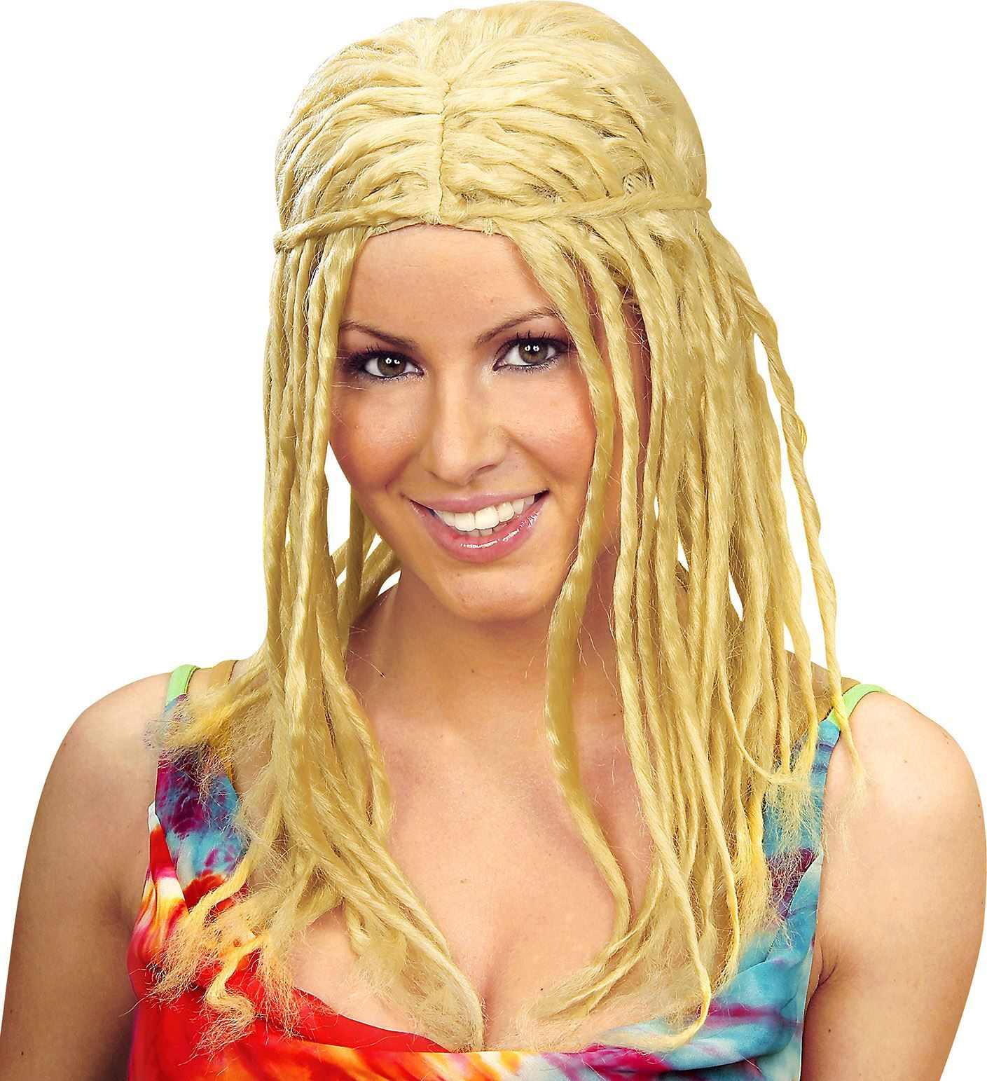 Blonde dreadlock pruik