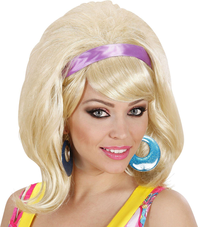 Blonde jaren 60 pruik