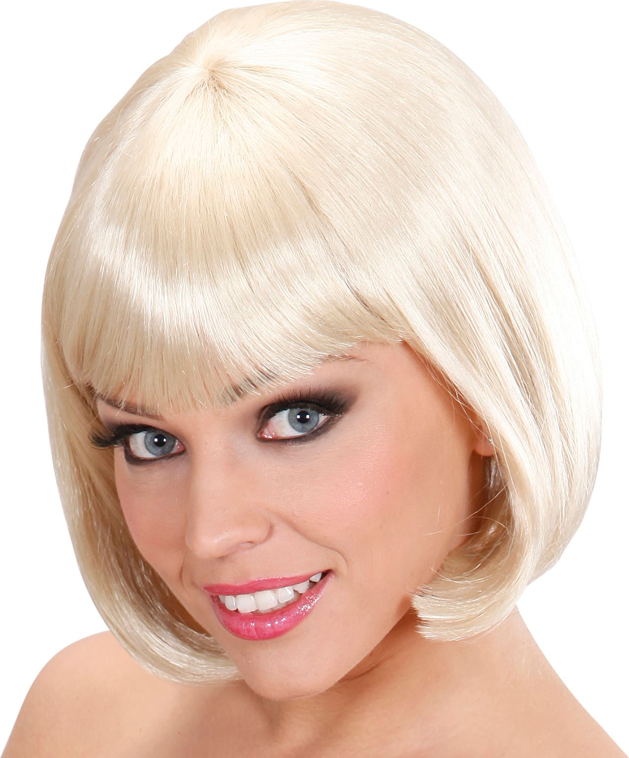 Blonde korte pruik
