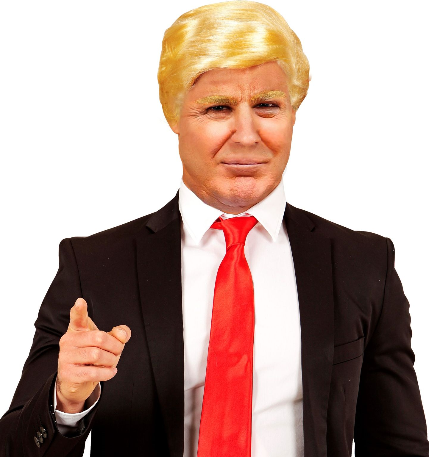 Blonde president pruik