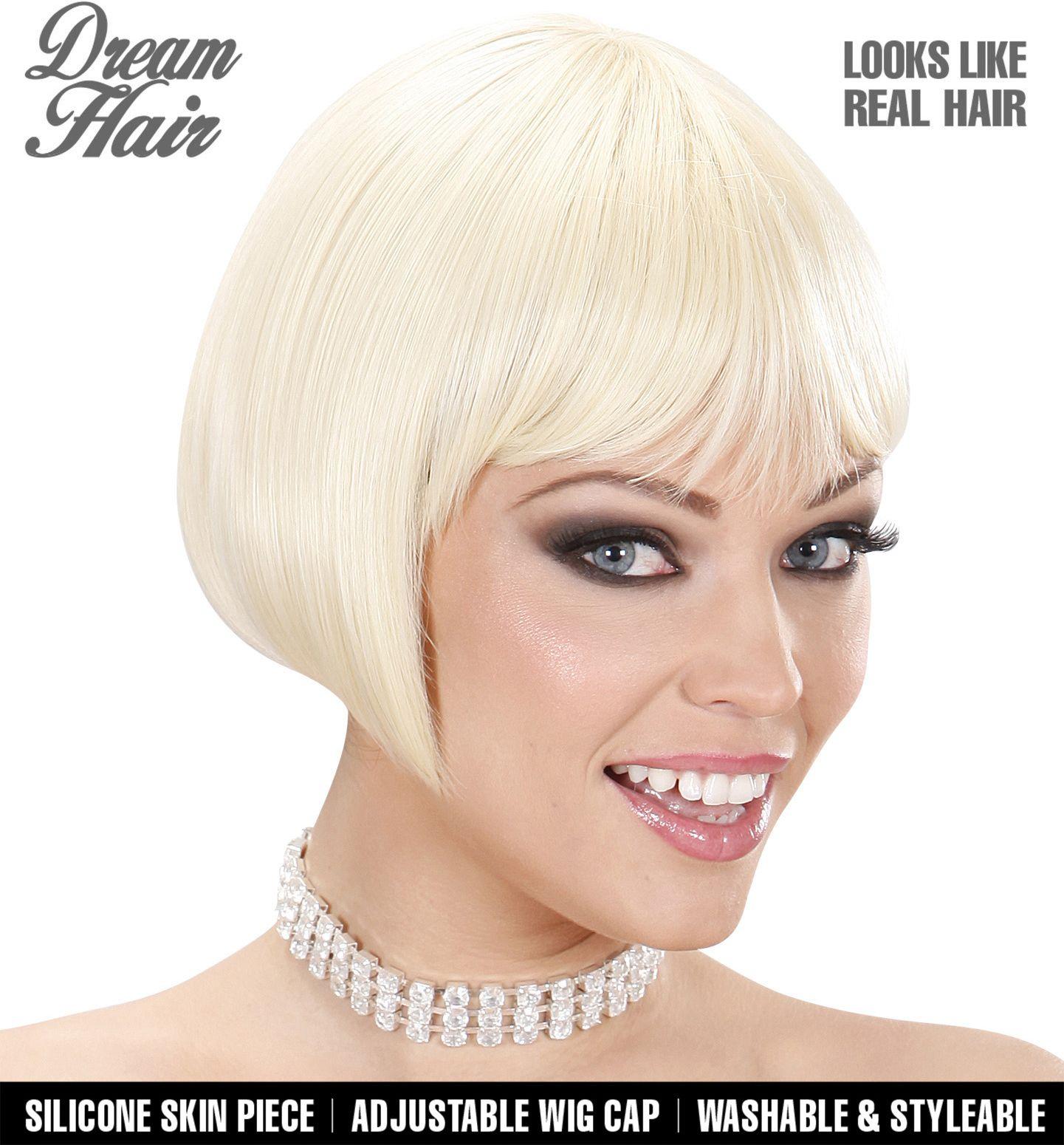 Blonde pruik korte haren