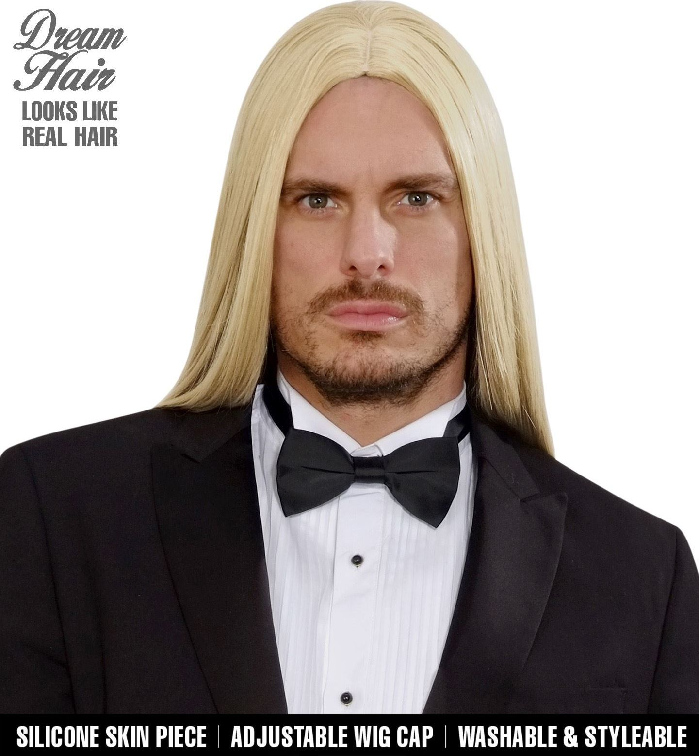 Blonde pruik lang haar heren