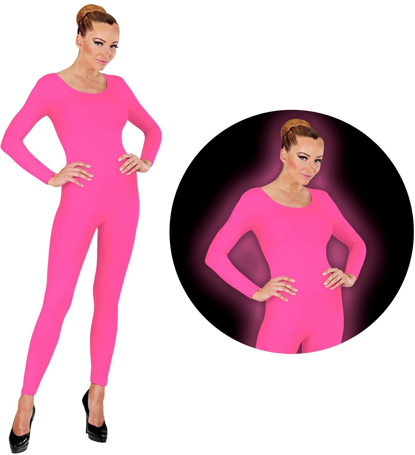 Bodysuit neon roze