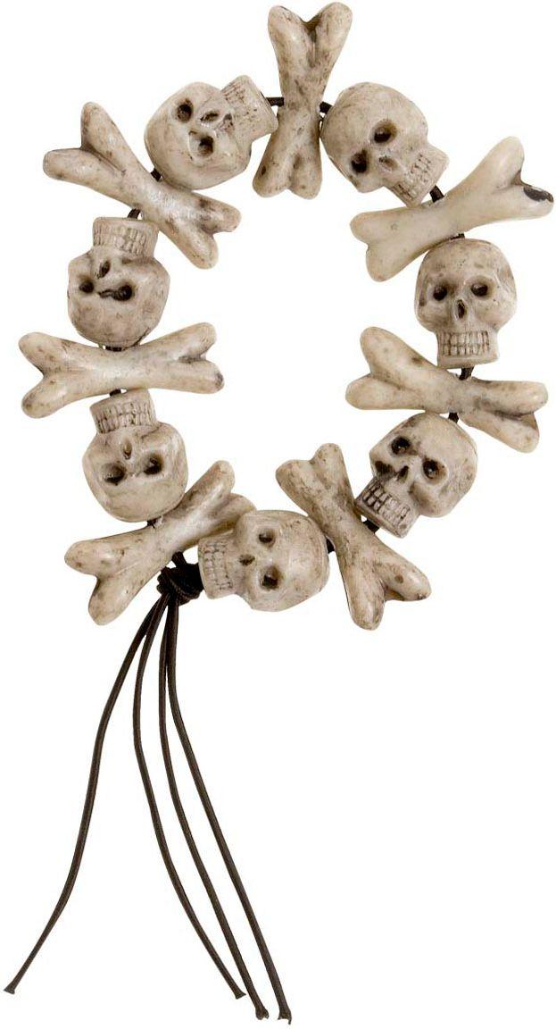Botten en schedels armband