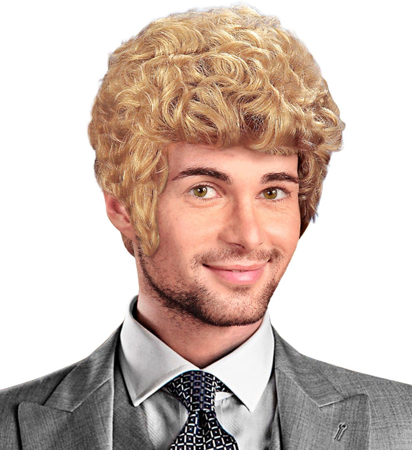 Brad pruik blond