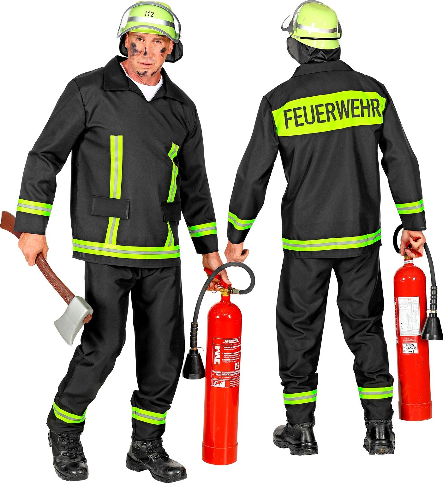 Brandweer kostuum mannen