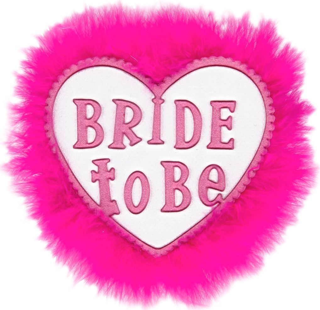 Bride-to-be broche wit