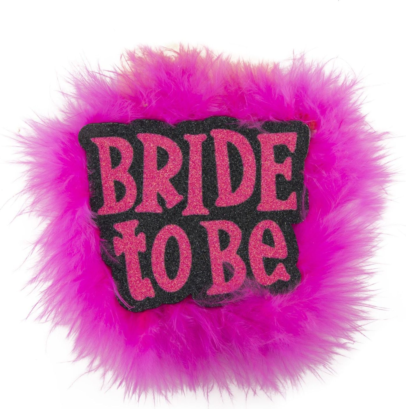 Bride-to-be broche zwart