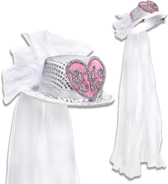 Bride-to-be mini hoge hoed met sluier