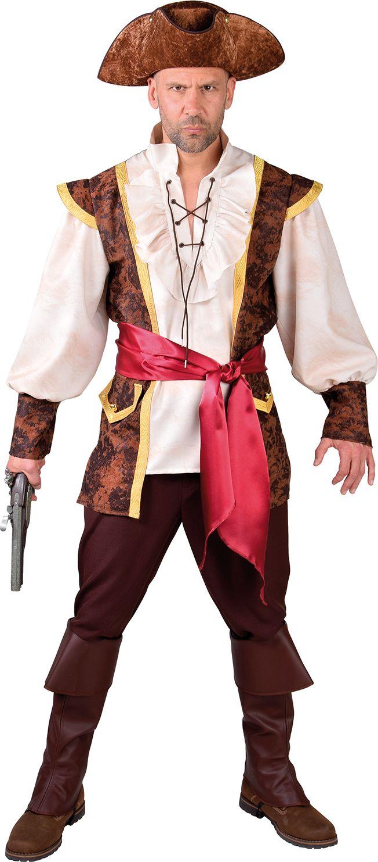 Bruin heren outfit piraat