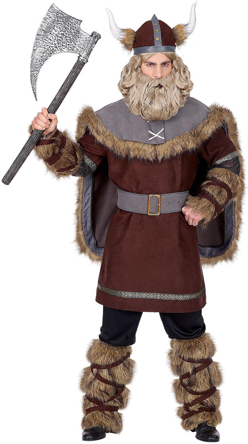 Bruin viking kostuum mannen