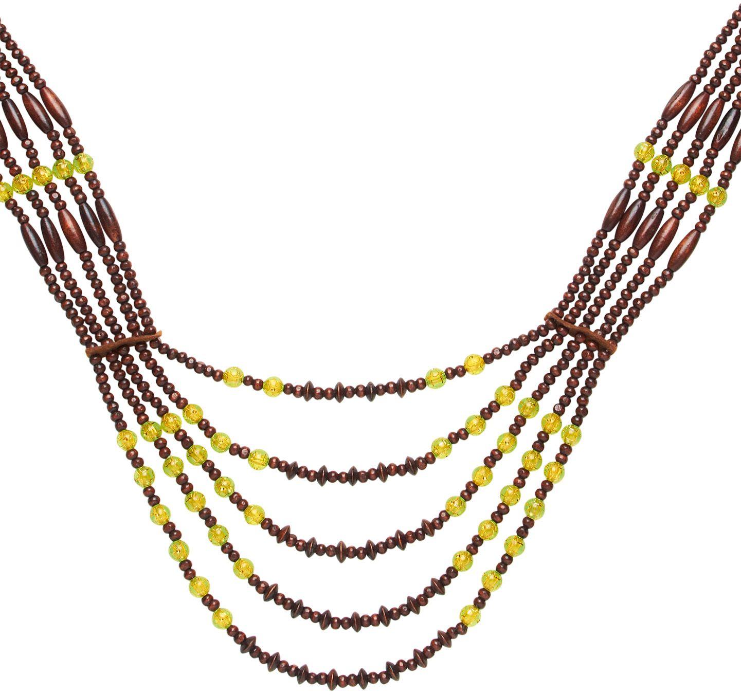 Bruine Afrikaanse tribale ketting