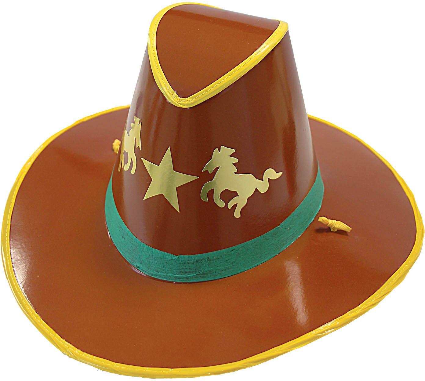 Bruine cowboy hoed karton