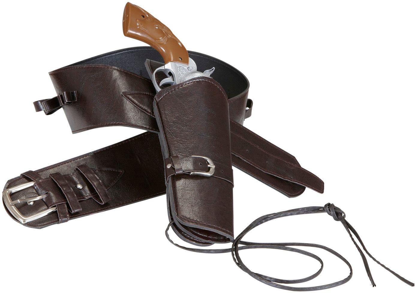 Bruine cowboy riem met holster