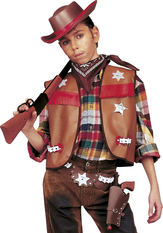 Bruine cowboy vermomming set