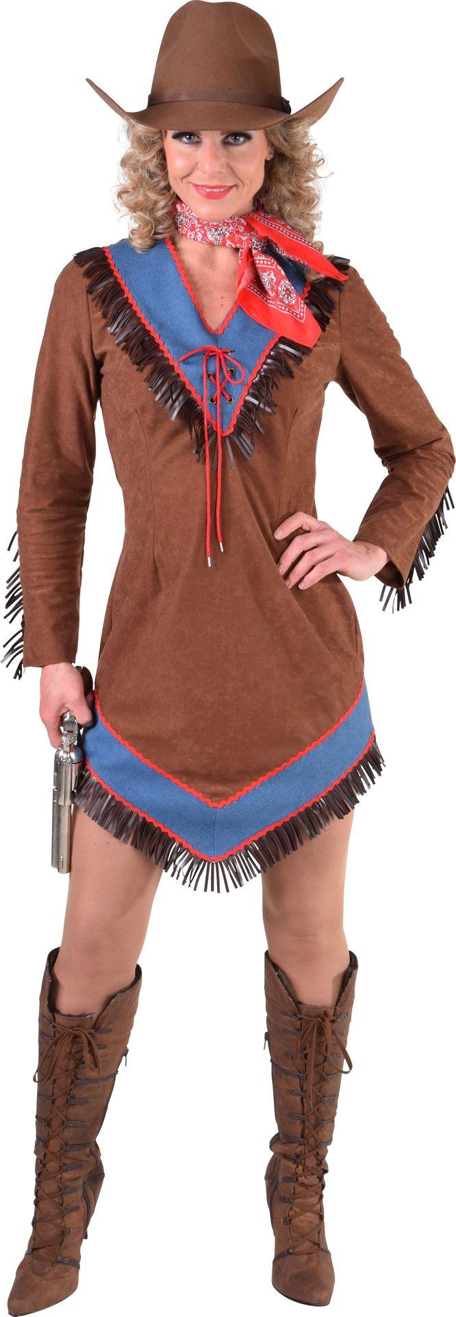 Bruine cowgirl jurk vrouwen