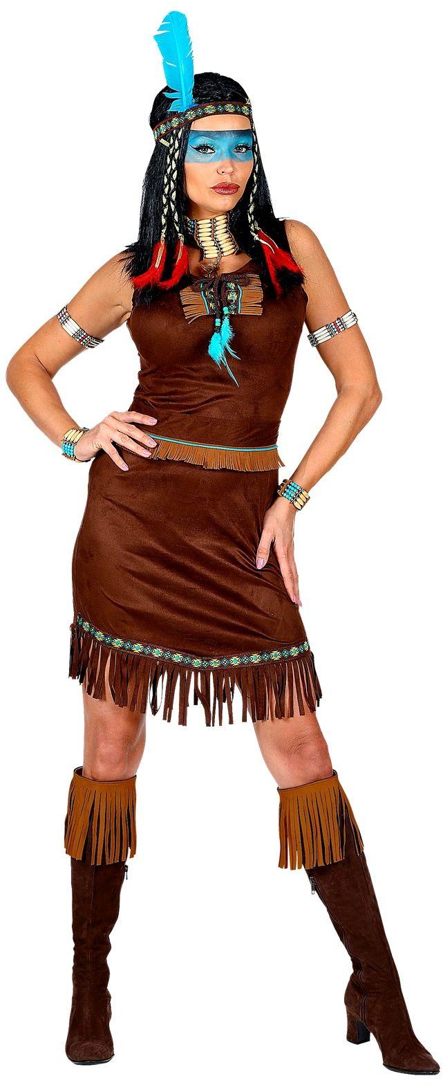 Bruine indianen jurk dames