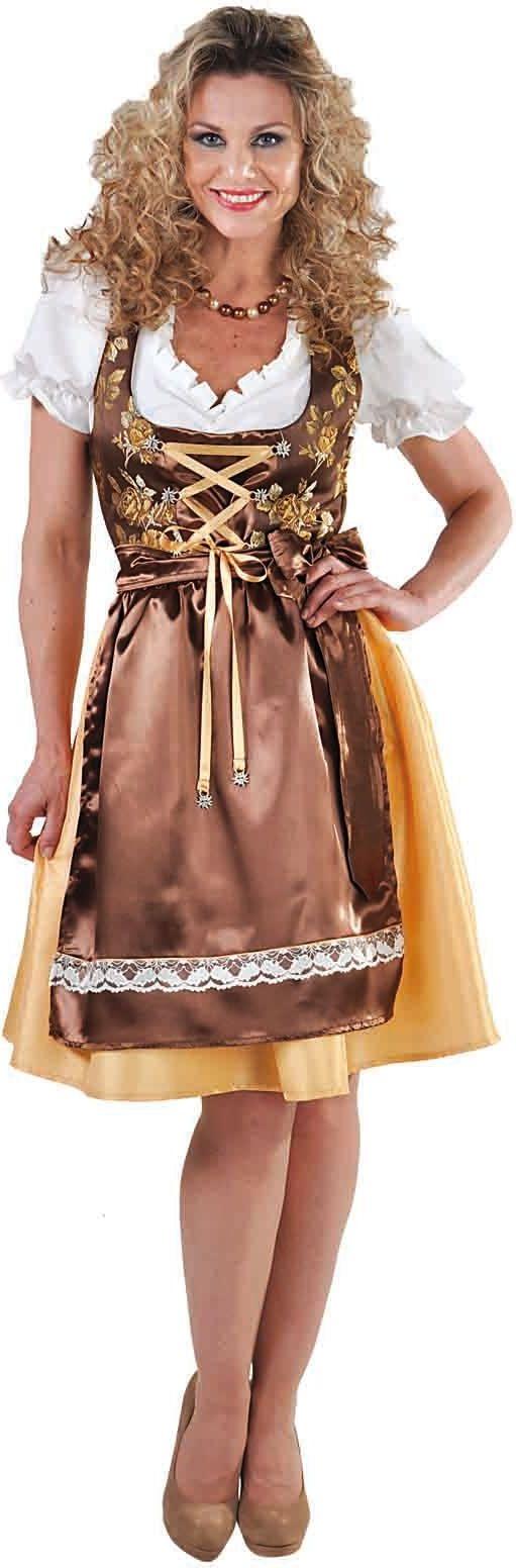 Bruine oktoberfest jurk vrouwen
