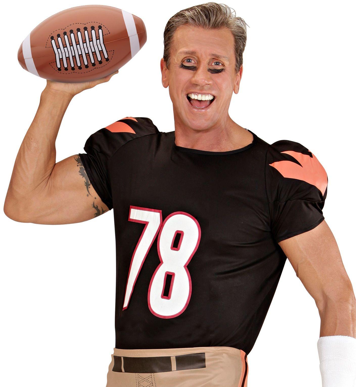 Bruine opblaasbare american football