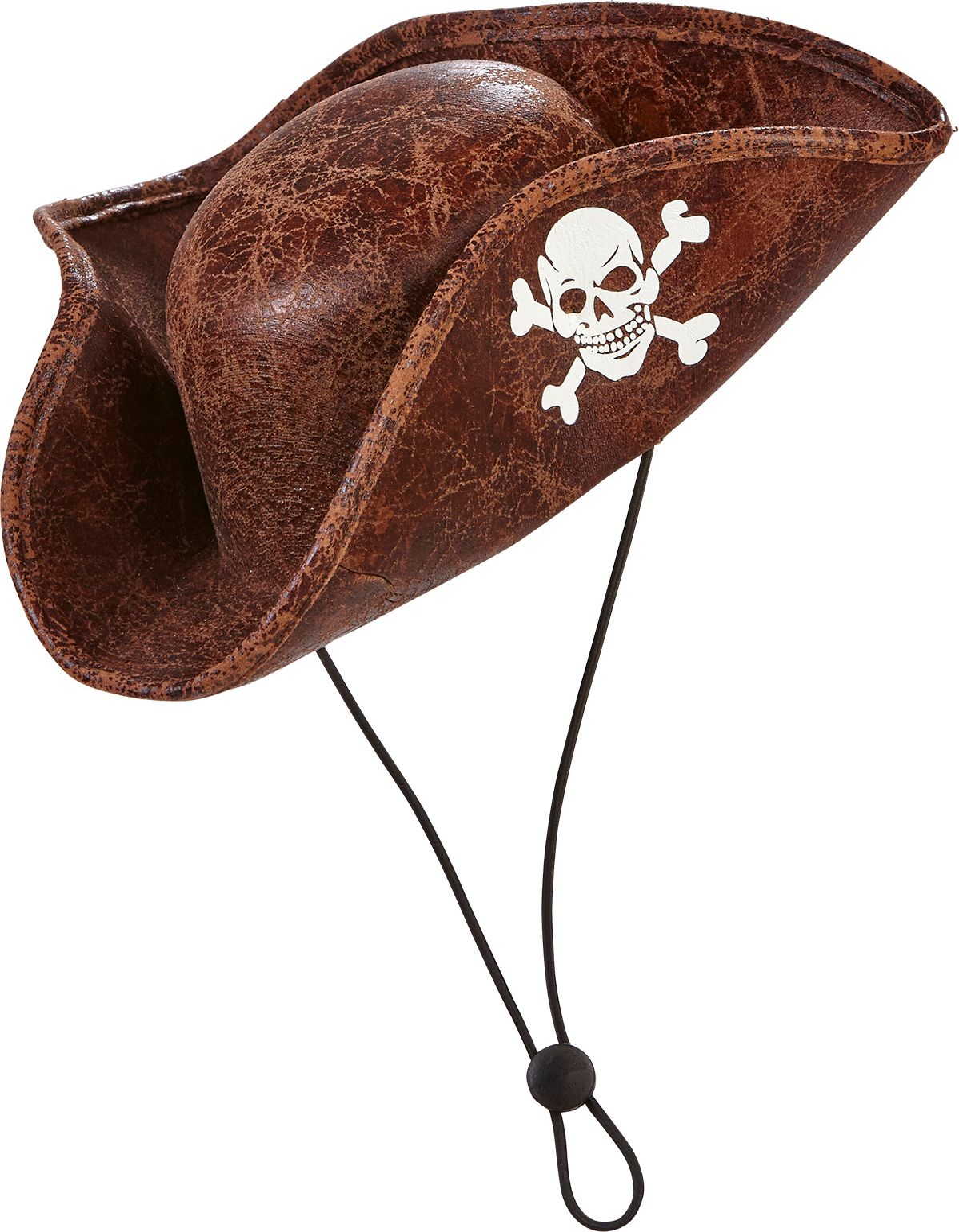 Bruine piraten tricorn