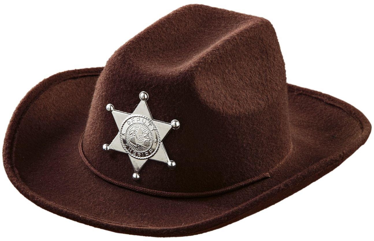 Bruine sheriff cowboyhoed