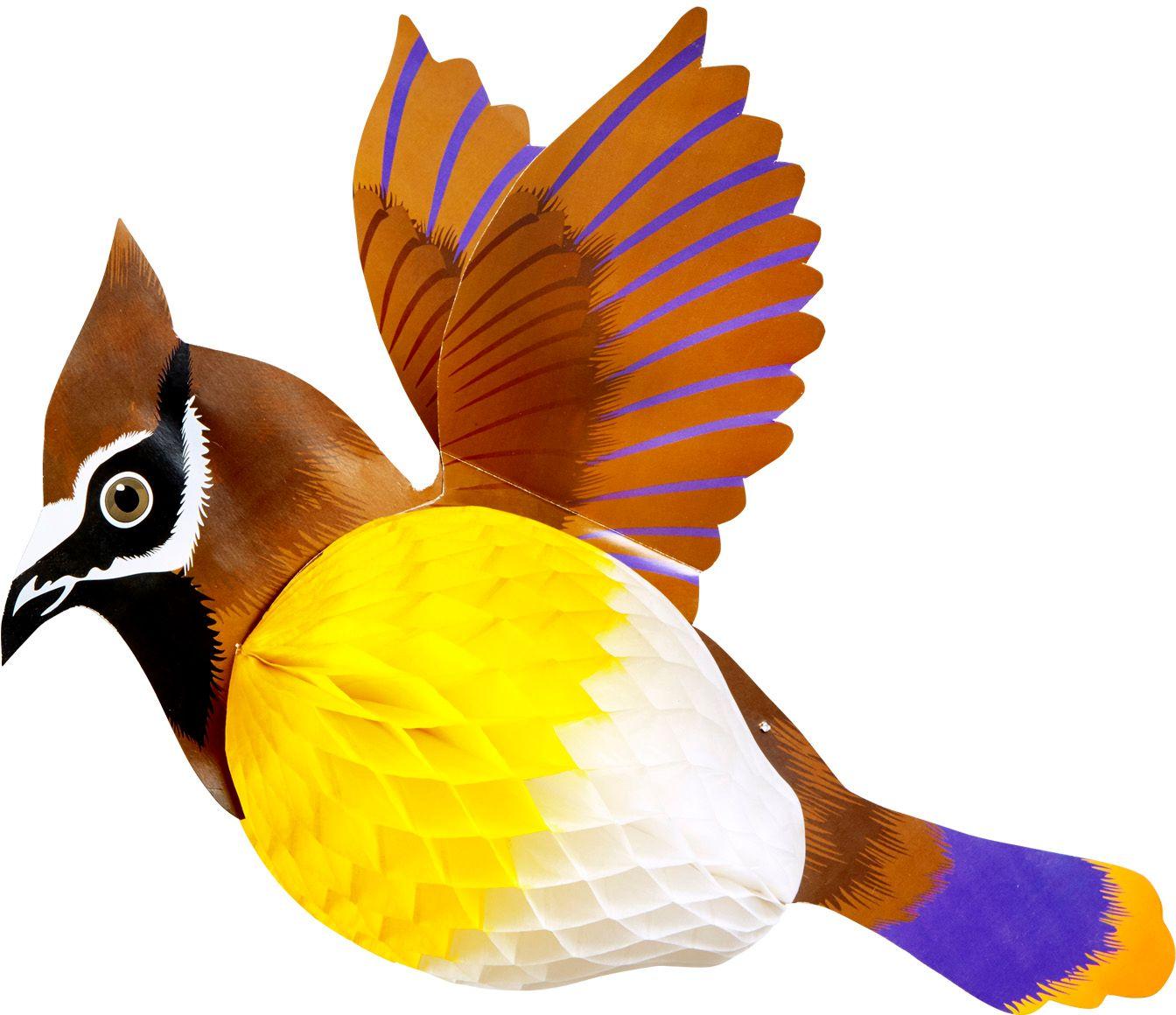 Bruine vogel honingraat