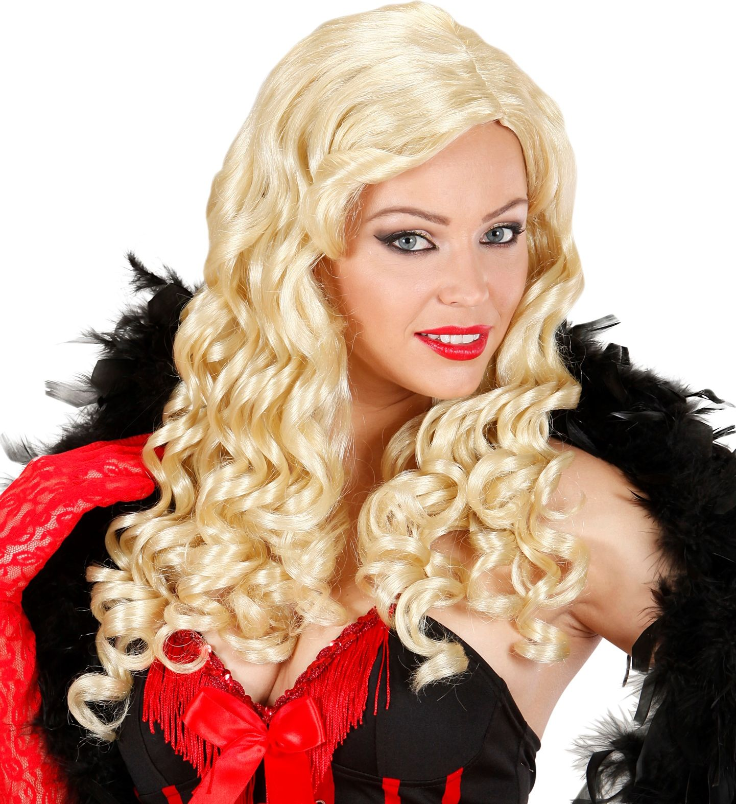 Burlesque pruik blond