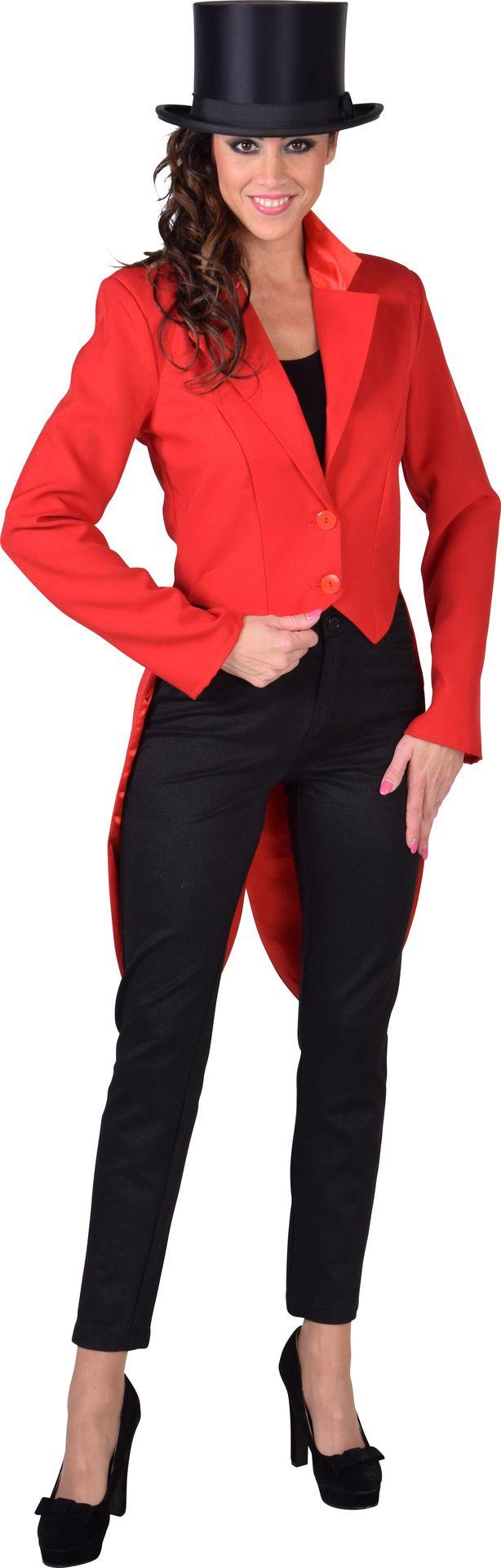 Cabaret slipjas rood vrouwen