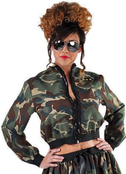 Camouflage leger jas dames