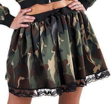 Camouflage leger rokje dames